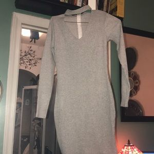 NWOT Grey cotton tunic or dress it's a M or M\L